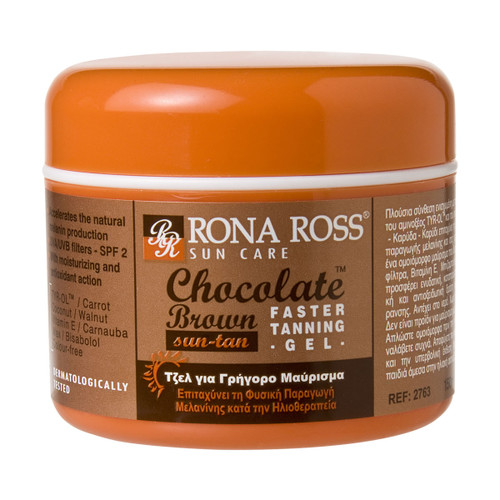 Rona Ross Chocolate Fast Tanning Gel SPF2 (150ml)
