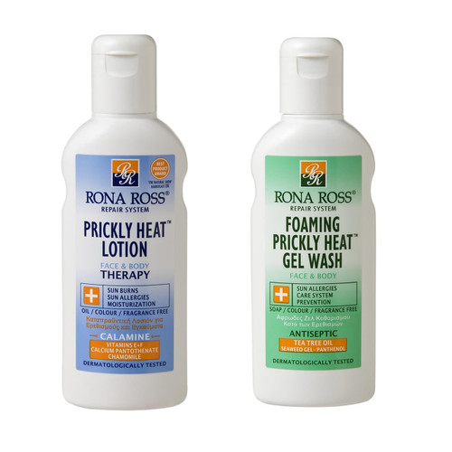 Rona Ross prickly heat therapy lotion and gel wash pack