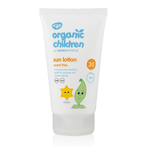Green People Children's Organic Scent Free Sun Lotion (150ml)