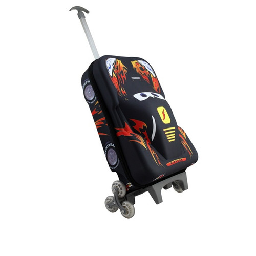 Kids roll along 3d car rollercase luggage