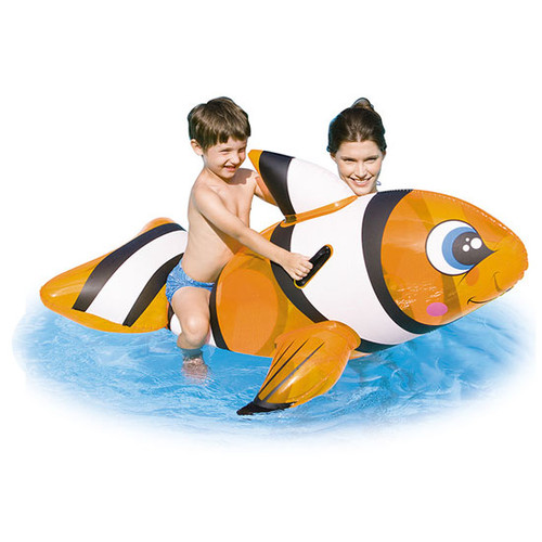Bestway clown fish inflatable swimming pool ride on