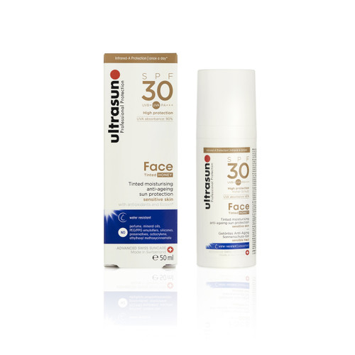 Ultrasun SPF30 tinted honey face anti ageing sunscreen