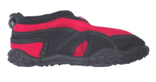 Blue rush infant beach aquashoe red