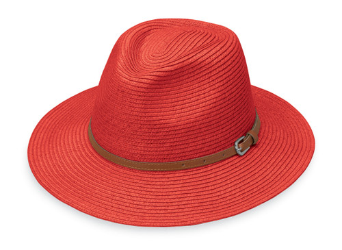 Womens Wallaroo Naples UPF50 sun hat orange