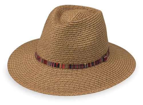 Womens Wallaroo Sedona upf50 sun hat camel