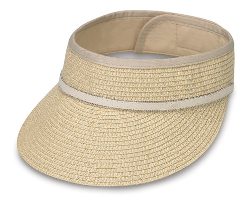 Wallaroo hats bianca visor cap natural