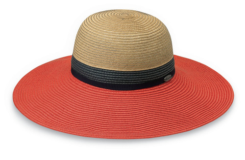 Womens Walaroo St Tropez UPF50+ Sun hat orange combo