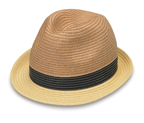 Wallaroo Womens St Tropez trilby natural combo