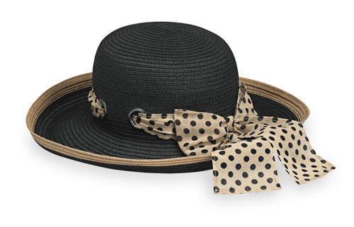 Womens wallaroo julia UPF50 sun hat black