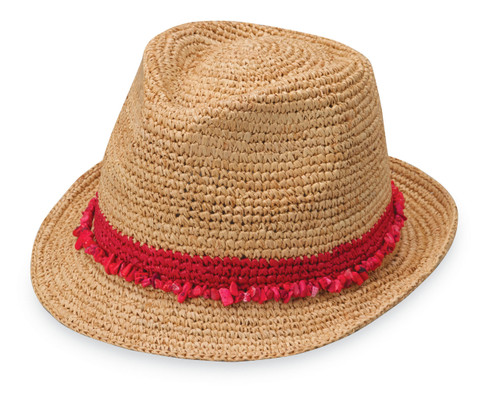 Womans Wallaroo tahiti trilby hat red
