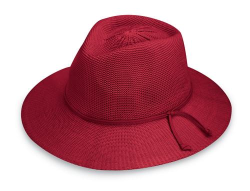 Womens Wallaroo victoria fedora upf50 hat cranberry 71a0e25a9bad