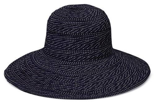 Womens Wallaroo UV scrunchie hat black white dots