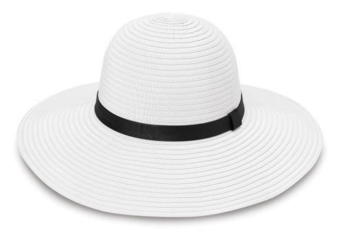 Womens Wallaroo harper upf50+ sun hat white