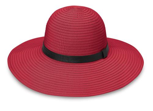 Womens Wallaroo harper upf50+ sun hat cranberry