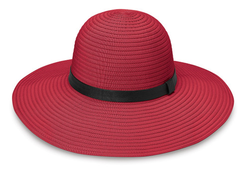 Womens Wallaroo harper upf50+ sun hat cranberry