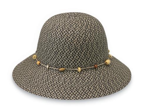 Womens Wallaroo Naomi UPF50+ Sun hat charcoal