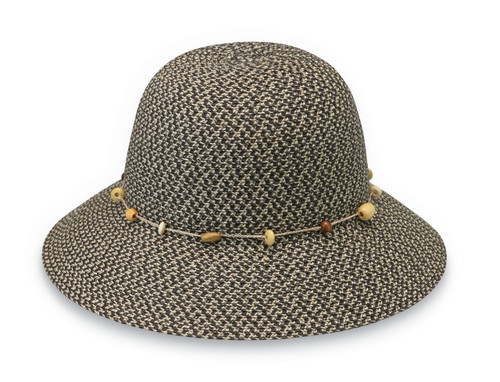 Womens Wallaroo Naomi UPF50+ Sun hat charcoal