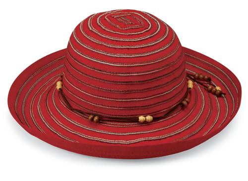Womens Wallaroo Breton UPF50 hat red