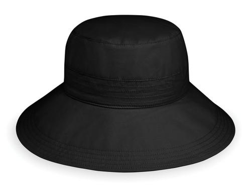 Womens Wallaroo UPF50+ sun hat piper black