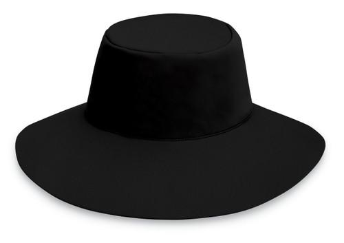 Womens Wallaroo UPF50+ aqua sun hat black
