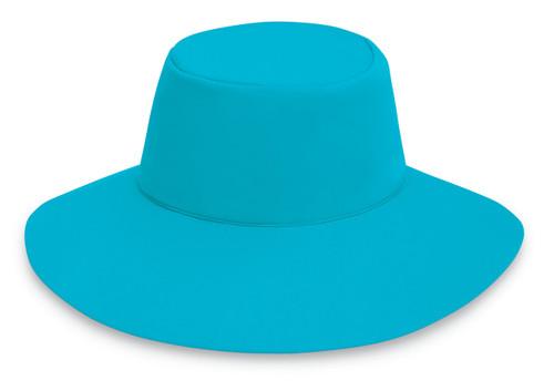 Womens Wallaroo UPF50+ aqua sun hat turquoise