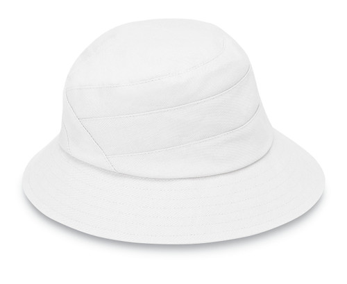 Womens Wallaroo Taylor UPF50 sun hat white