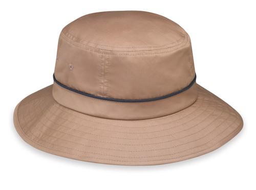 Wallaroo Mens UPF50+ shelton sun hat camel navy