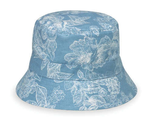 Wallaroo baby Alohat UPF50+ Sun hat blue floral