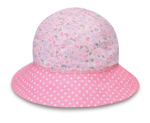 Wallaroo Baby UV UPF50 platypus sun hat pink roses a2896ad35428