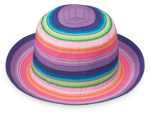 Wallaroo Petite nantucket girls UPF50+ sun hat rainbow tones