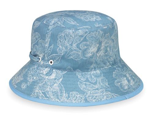 Wallaroo Riley UPF50+ Sun hat blue floral