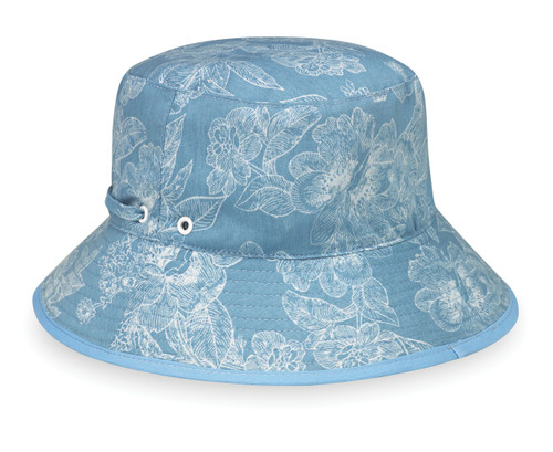 Wallaroo Riley UPF50+ Sun hat blue floral
