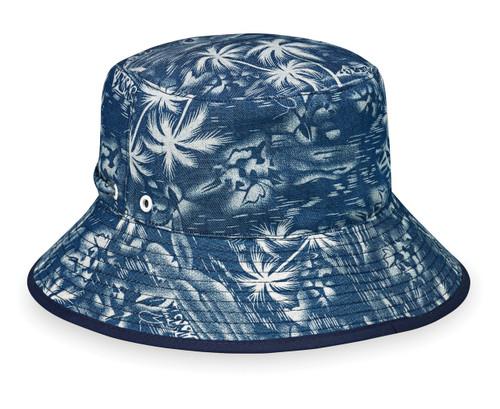 Wallaroo Riley UPF50+ Sun hat denim blue