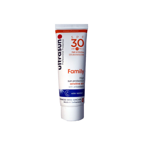 Ultrasun sensitive family formula once a day sun protection spf30 25ml