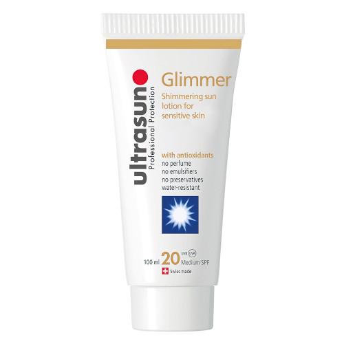 Ultrasun once a day sensitive glimmer spf20 sunscreen 100ml