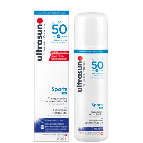 Ultrasun Clear sports spf50 clear  liquid gel 200ml