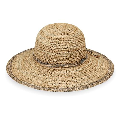 Womens Wallaroo camille raffia beach hat mushroom