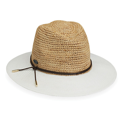 Wallaroo Laguna fedora white natural hat
