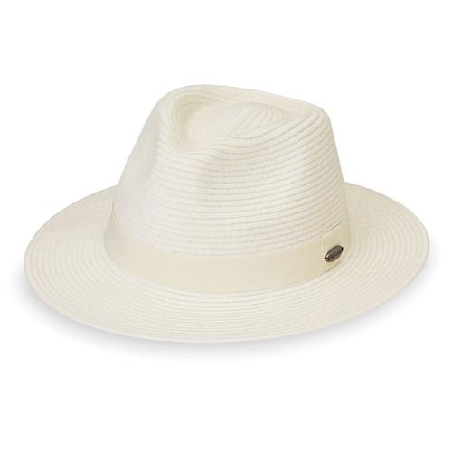 Womens Wallaroo Caroline Fedora UPF50+ Sun Hat ivory