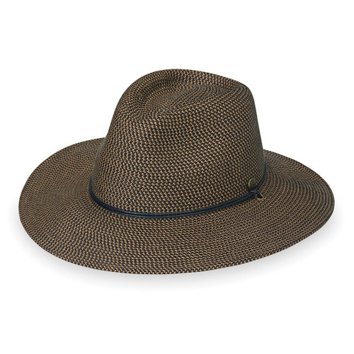 Mens Wallaroo upf50 logan sun hat dark brown