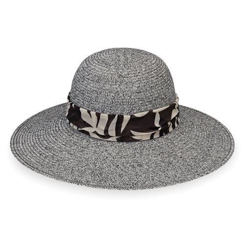 Womens Wallaroo Mia UPF50+ sun hat black combo
