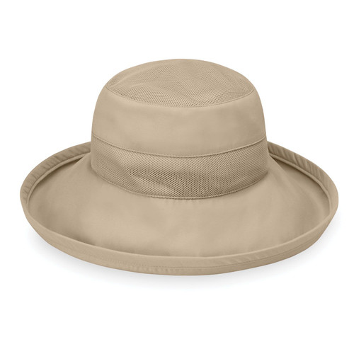 Wallaroo Seaside UPF50+ womens microfibre hat camel