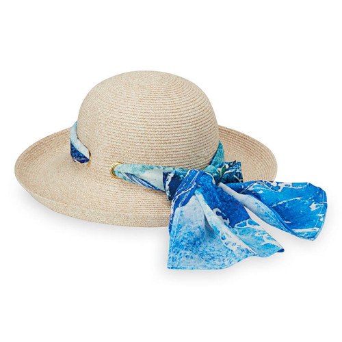 Womens Wallaroo Lady Jane UPF50 sun hat blue