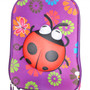 Kids roll along 3d ladybird rollercase luggage