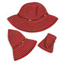 Womens Wallaroo Breton UPF50 hat red folded packed