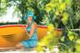Womens Wallaroo Aqua Hat with Chin Strap (UPF50+)