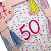50th Birthday Card for Wife from Hallmark Die-Cut 3D Design