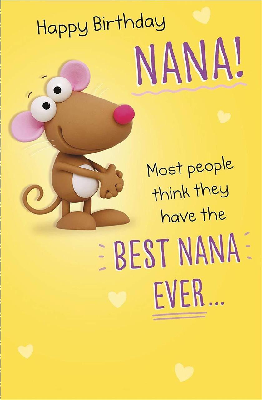Crackers - Happy Birthday Nana ? Cute Humour Birthday Card for Nana