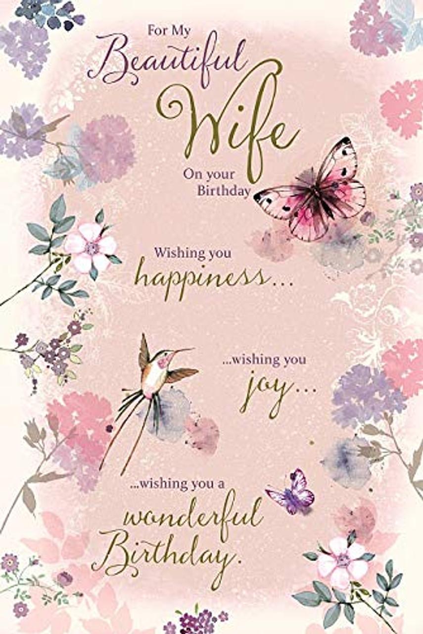 Beautiful Wife Happy Birthday Card