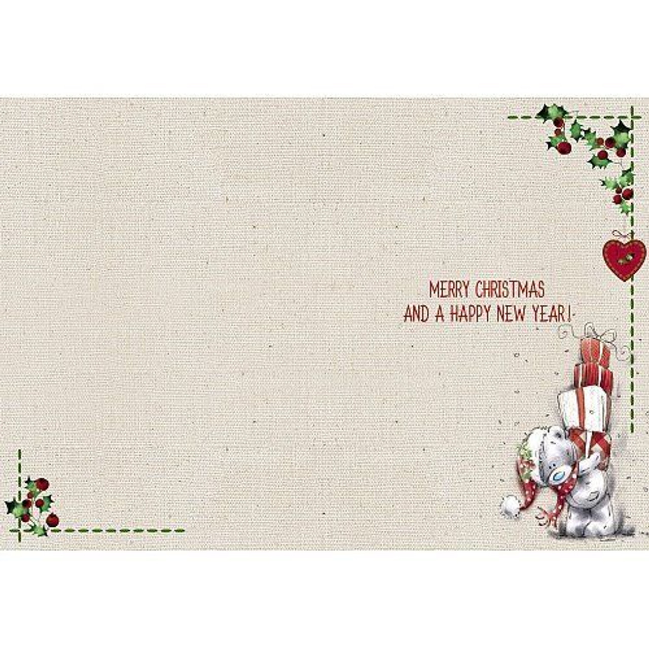 Santa Claus is coming to Town Me to You Tatty Teddy Christmas Card